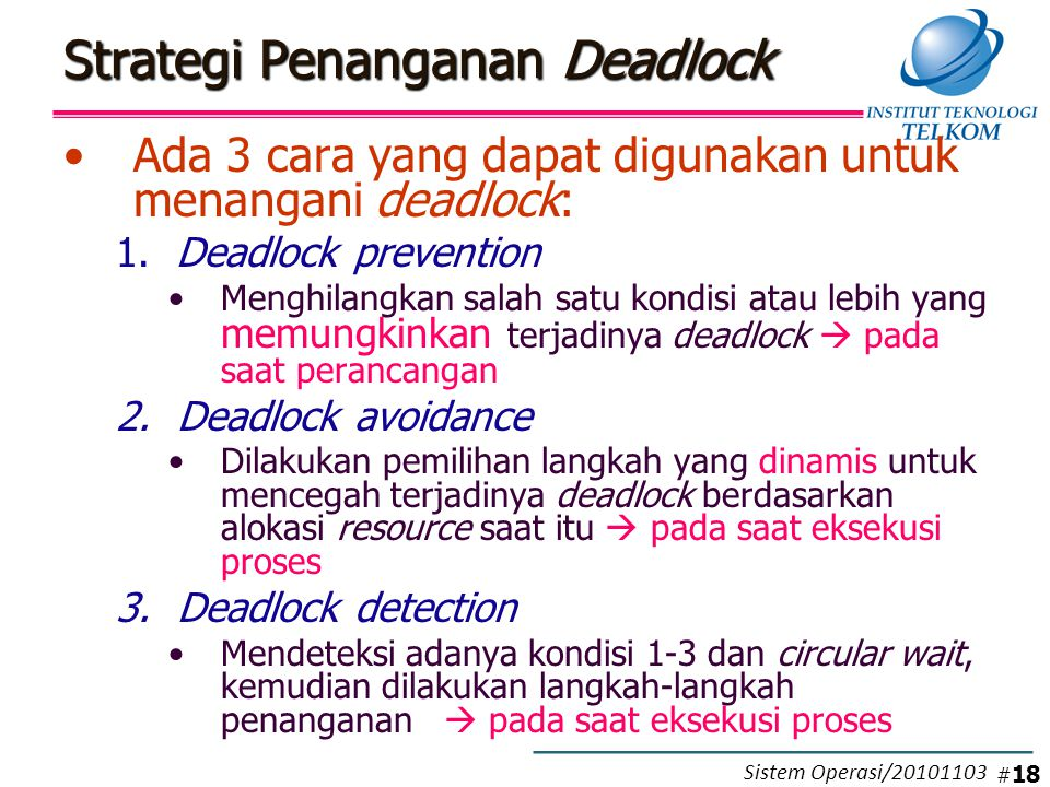 deadlock prevention Deadlock detection monitors the driver's use of resources which need to be locked -- spin locks, mutexes, and fast mutexes this driver verifier option will detect code logic that has the potential to cause a deadlock at some future point the deadlock detection option of driver verifier, along with.