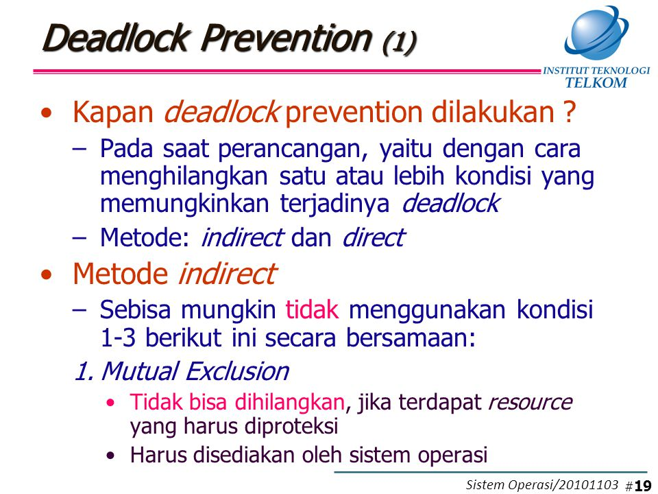 Deadlock Prevention (2)