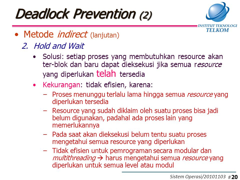Deadlock Prevention (3)