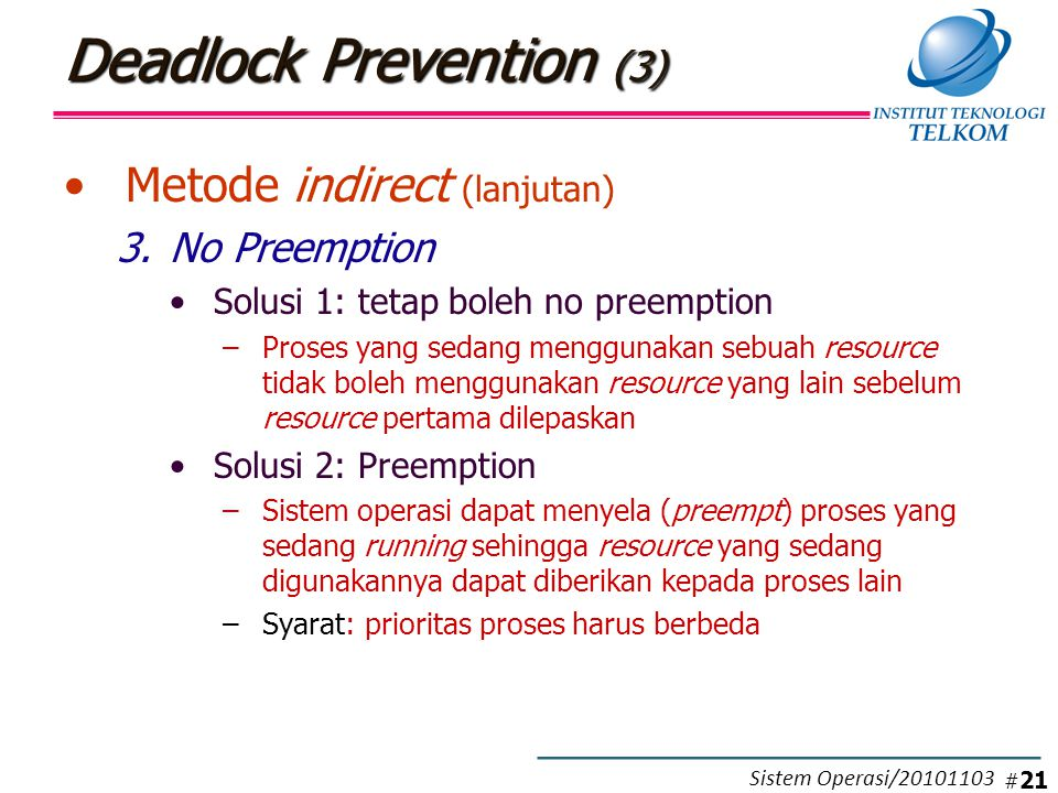 Deadlock Prevention (4)