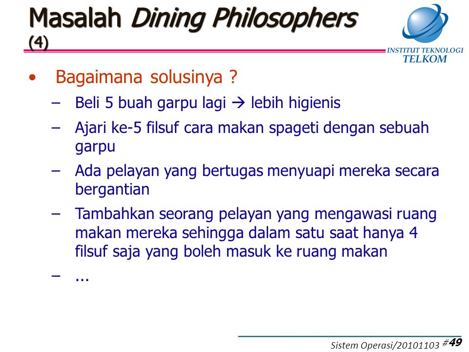 Masalah Dining Philosophers (5)