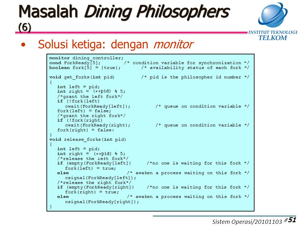 Masalah Dining Philosophers (7)