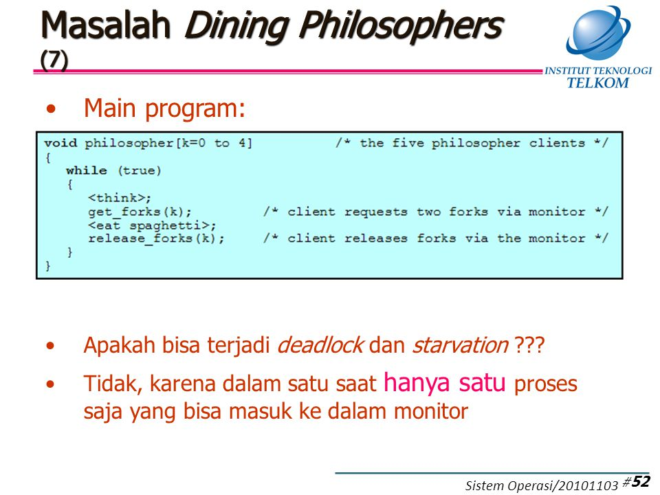 Masalah Dining Philosophers (8)