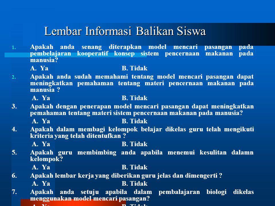 Lembar Informasi Balikan Siswa