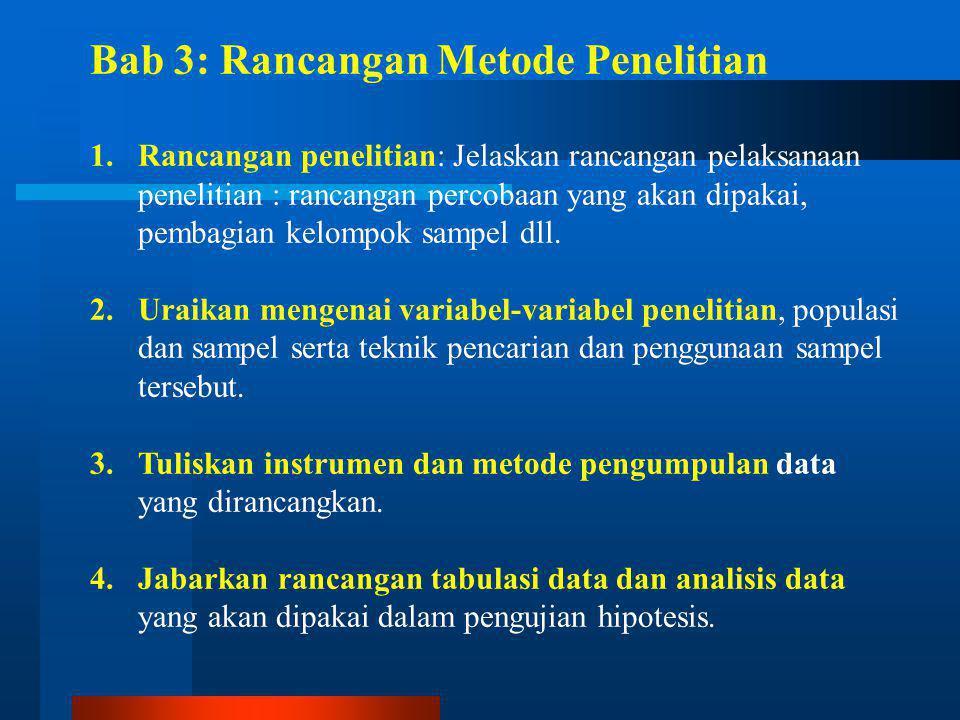 Bab 3: Rancangan Metode Penelitian