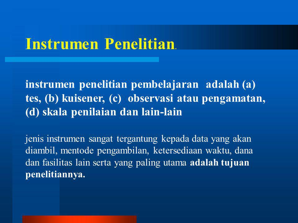 Instrumen Penelitian.