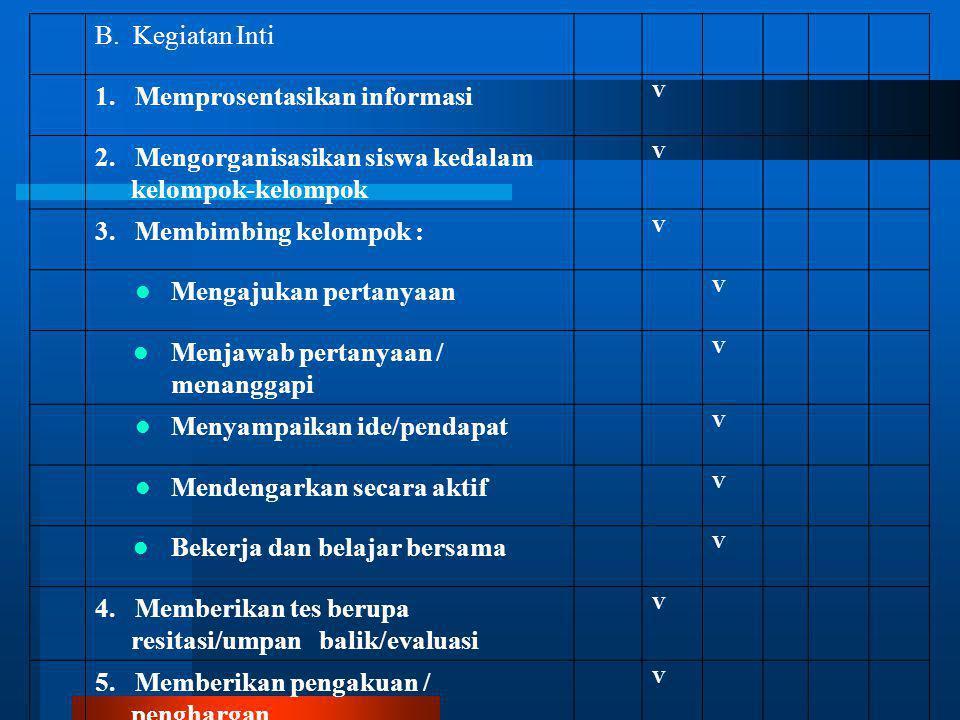 1. Memprosentasikan informasi