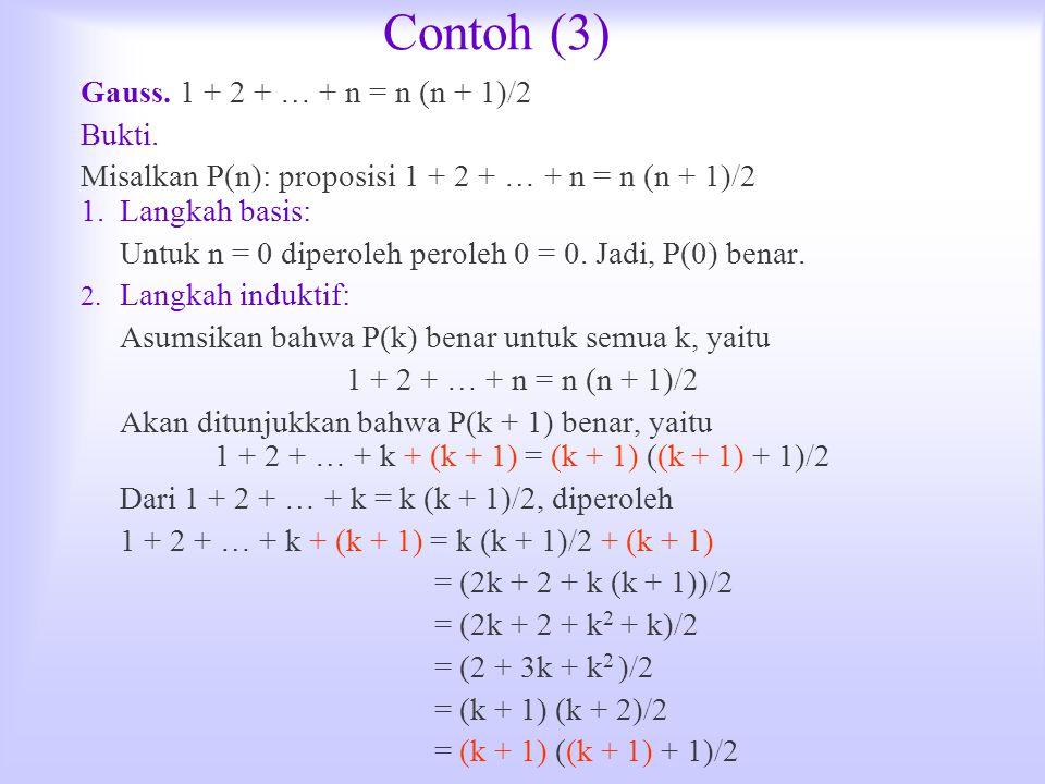 1 + 2 + … + k + (k + 1) = (k + 1) ((k + 1) + 1)/2