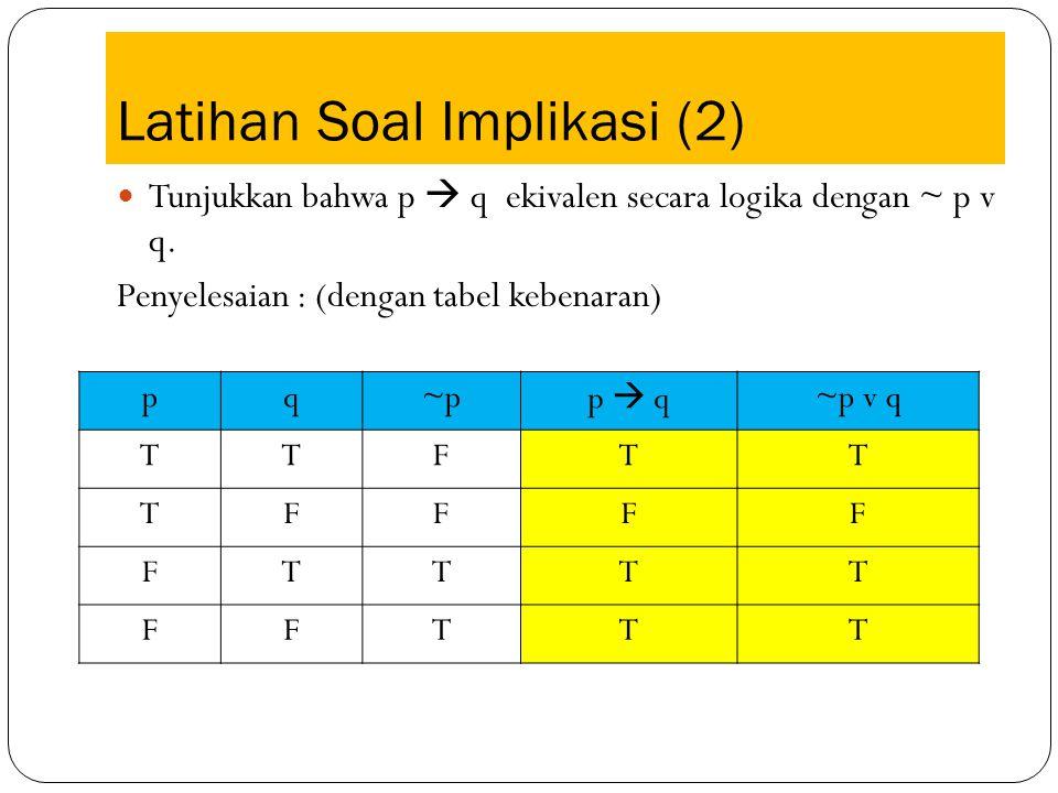 Latihan Soal Implikasi (2)