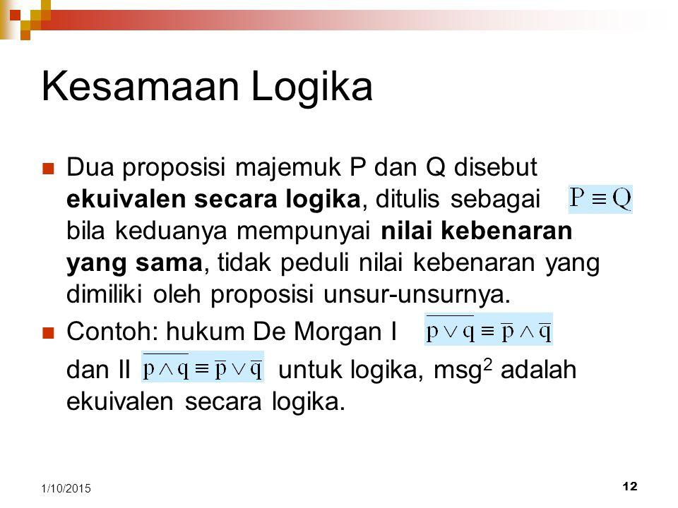 Kesamaan Logika