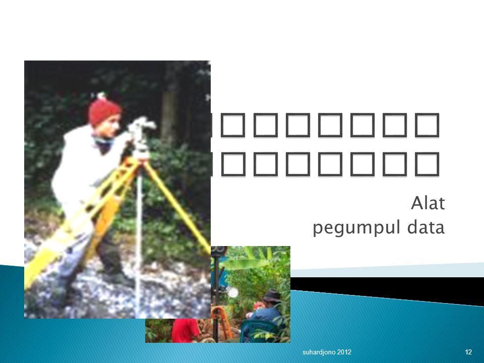 Instrumen penelitian Alat pegumpul data suhardjono 2012