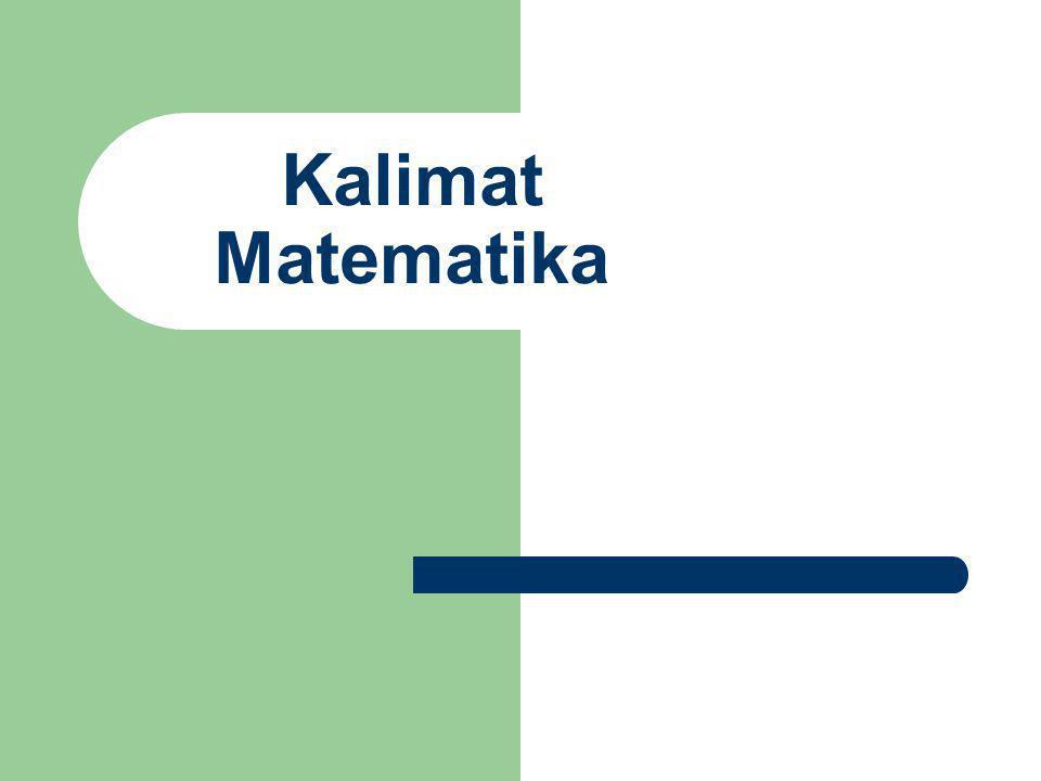 Kalimat Matematika