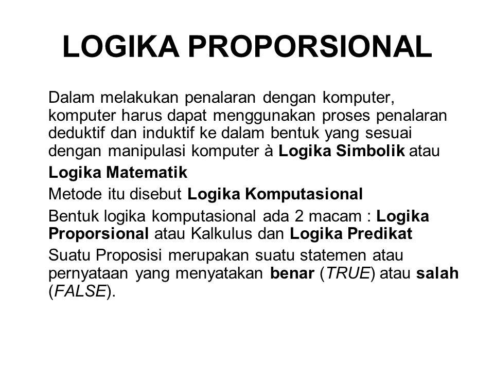 LOGIKA PROPORSIONAL
