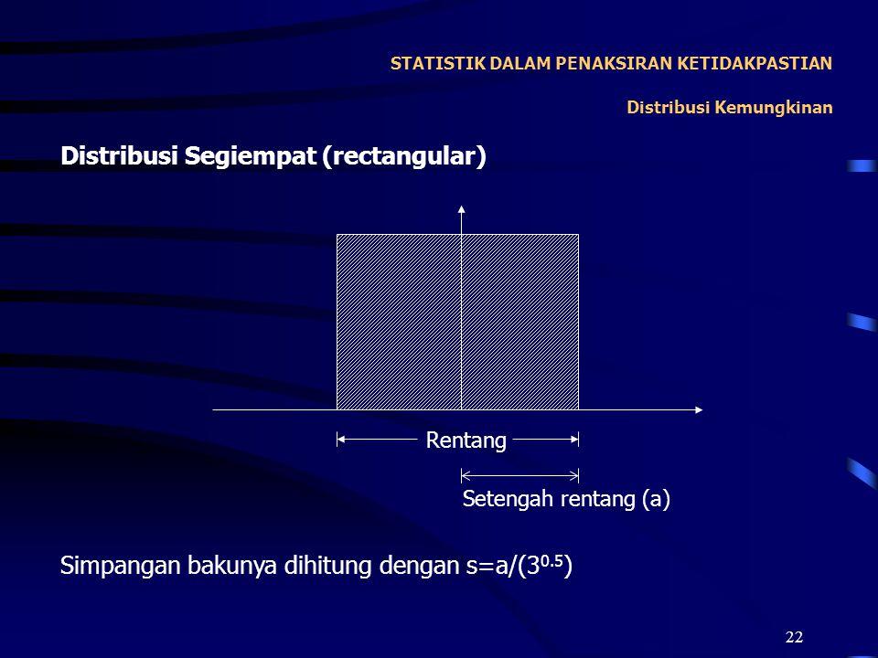 STATISTIK DALAM PENAKSIRAN KETIDAKPASTIAN