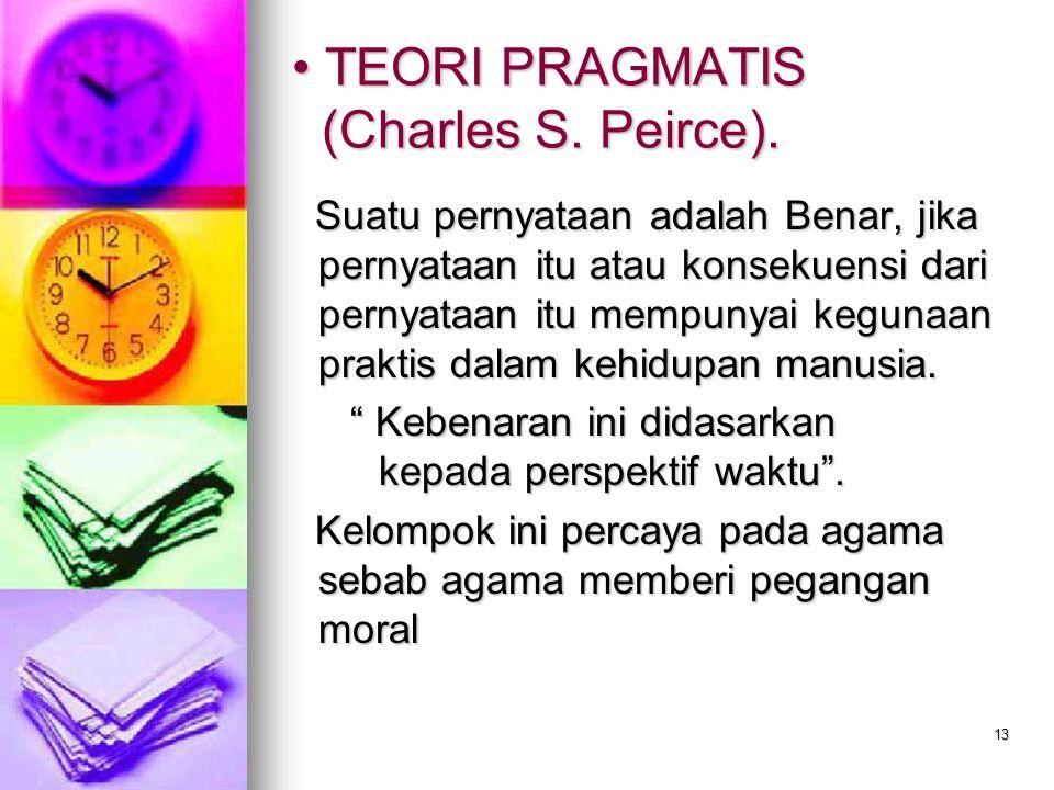 TEORI PRAGMATIS (Charles S. Peirce).