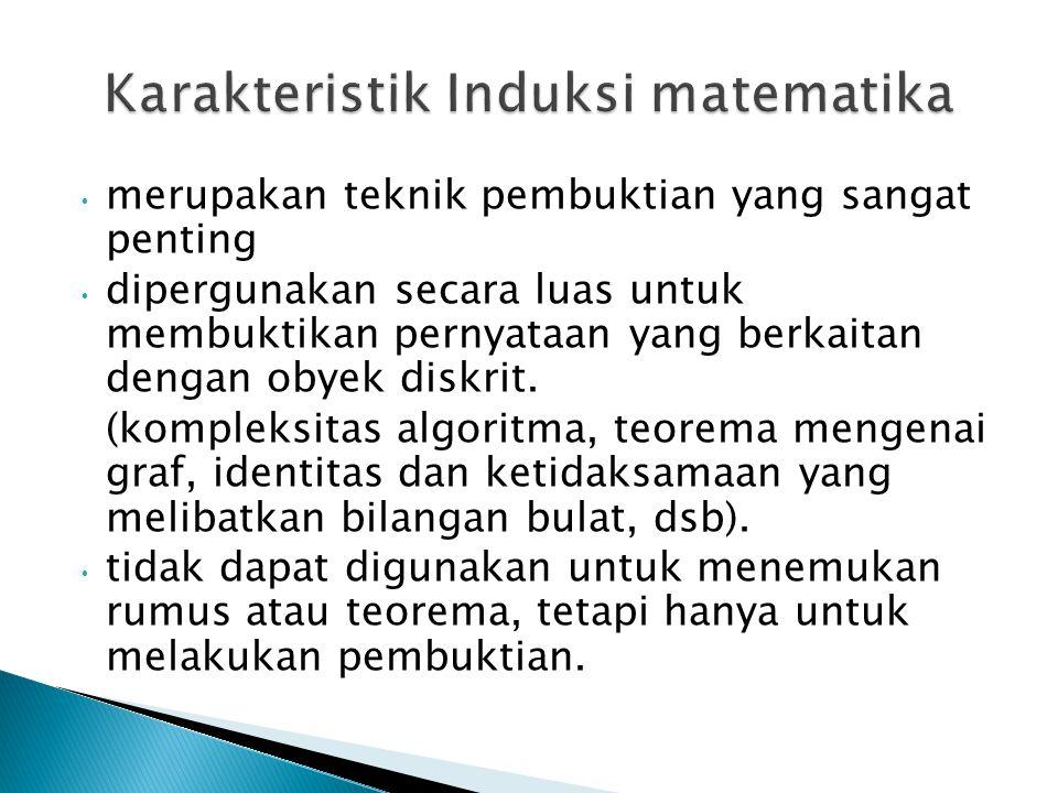 Karakteristik Induksi matematika