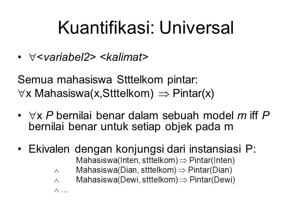 Kuantifikasi: Universal
