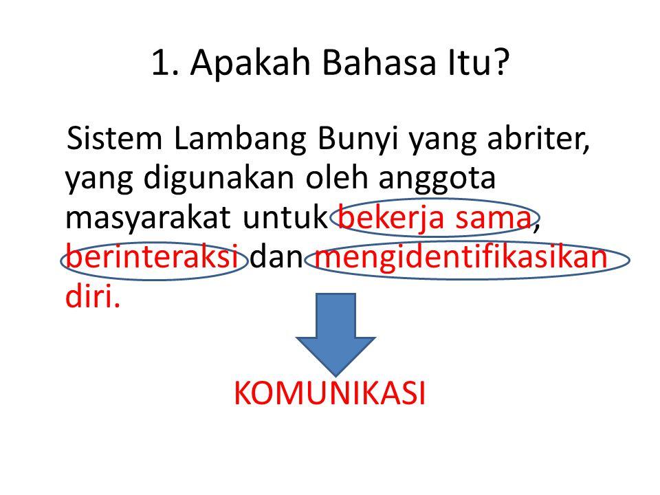 1. Apakah Bahasa Itu KOMUNIKASI