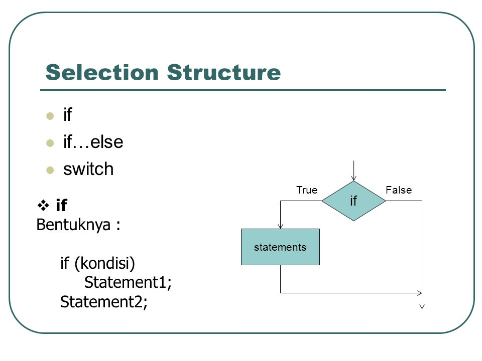 selection struture Answer to a nested selection structure can appear a only in an outer selection structure's false path b only in an outer.
