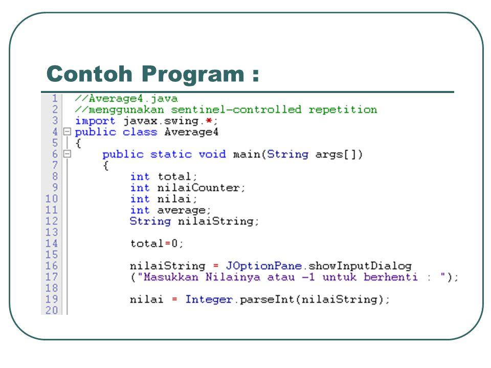Contoh Program :