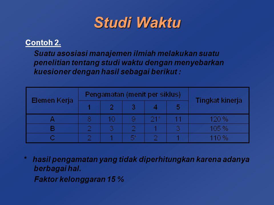 Studi Waktu Contoh 2.