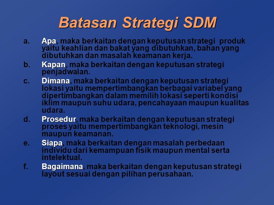 Batasan Strategi SDM