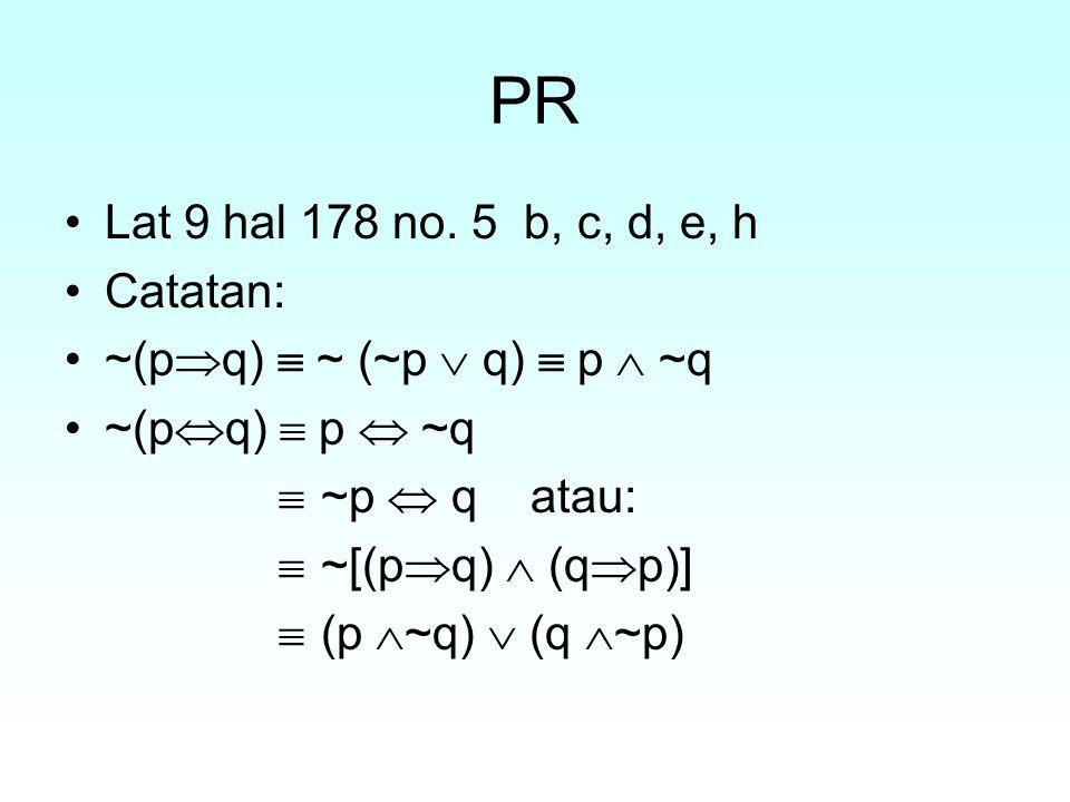 PR Lat 9 hal 178 no. 5 b, c, d, e, h Catatan:
