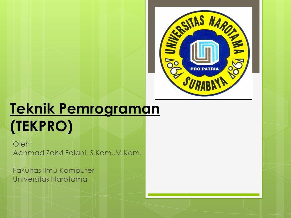 Teknik Pemrograman (TEKPRO)