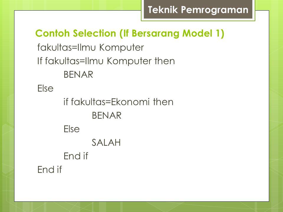 Contoh Selection (If Bersarang Model 1)