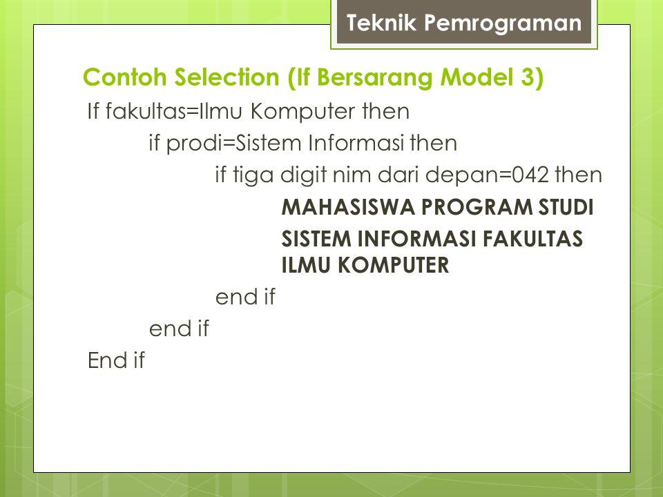 Contoh Selection (If Bersarang Model 3)