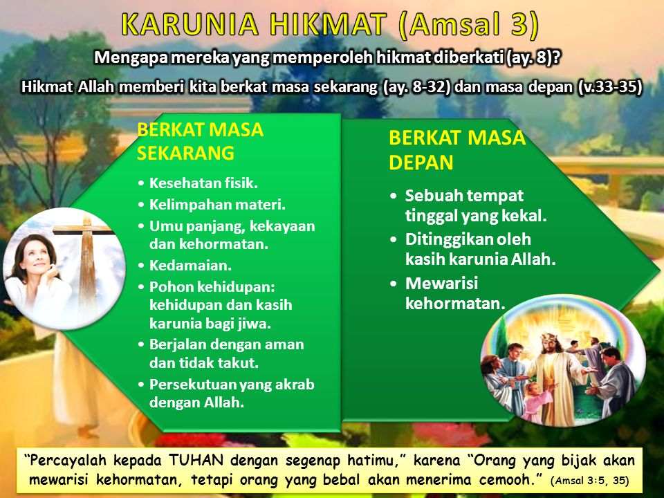KARUNIA HIKMAT (Amsal 3)