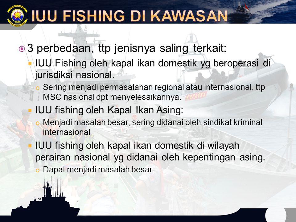 IUU Fishing di Kawasan 3 perbedaan, ttp jenisnya saling terkait: