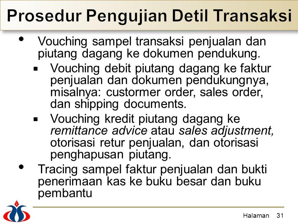 Prosedur Pengujian Detil Transaksi