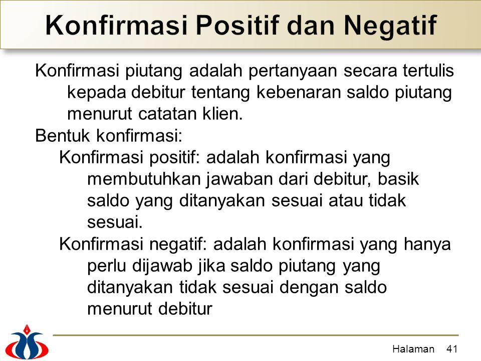 Konfirmasi Positif dan Negatif
