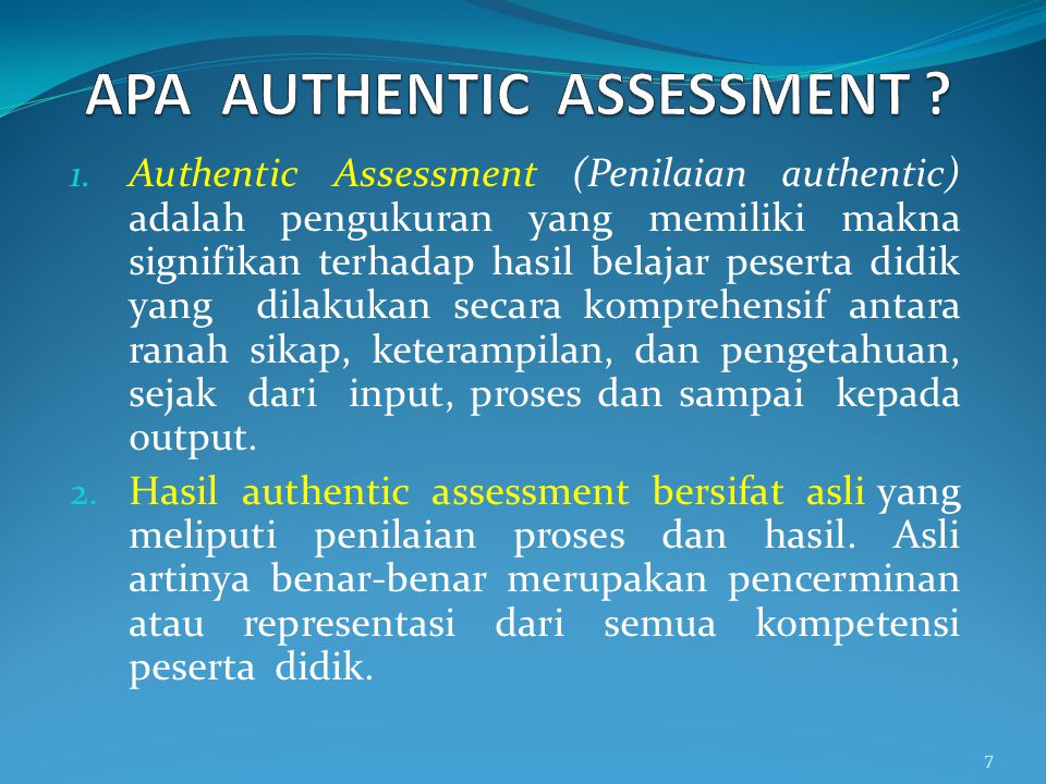 APA AUTHENTIC ASSESSMENT