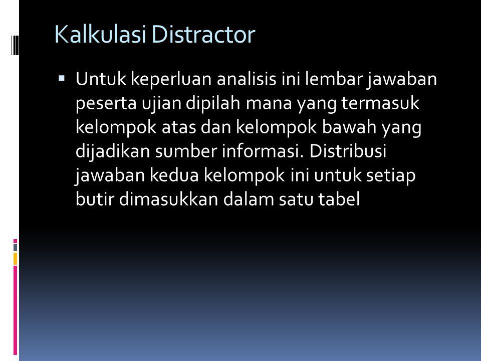 Kalkulasi Distractor