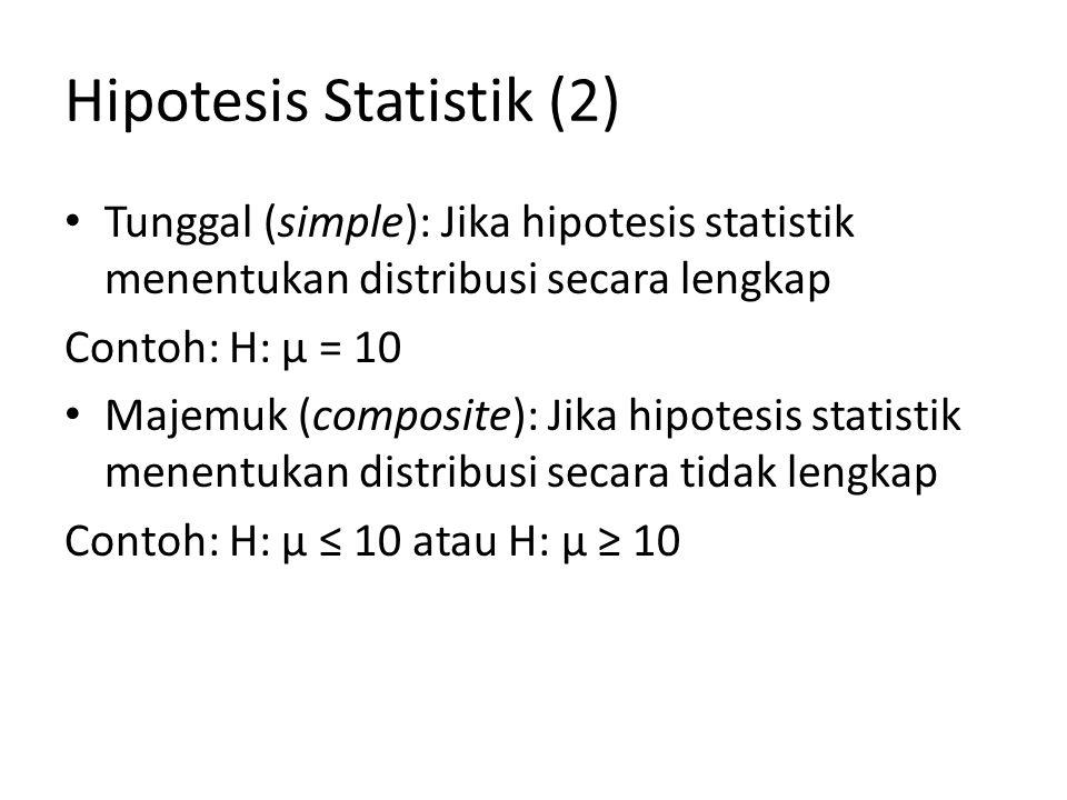 Hipotesis Statistik (2)