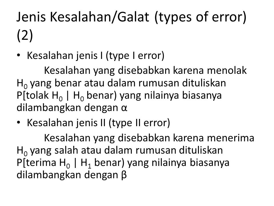Jenis Kesalahan/Galat (types of error) (2)