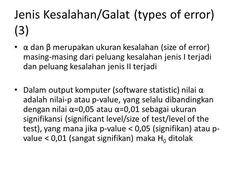 Jenis Kesalahan/Galat (types of error) (3)