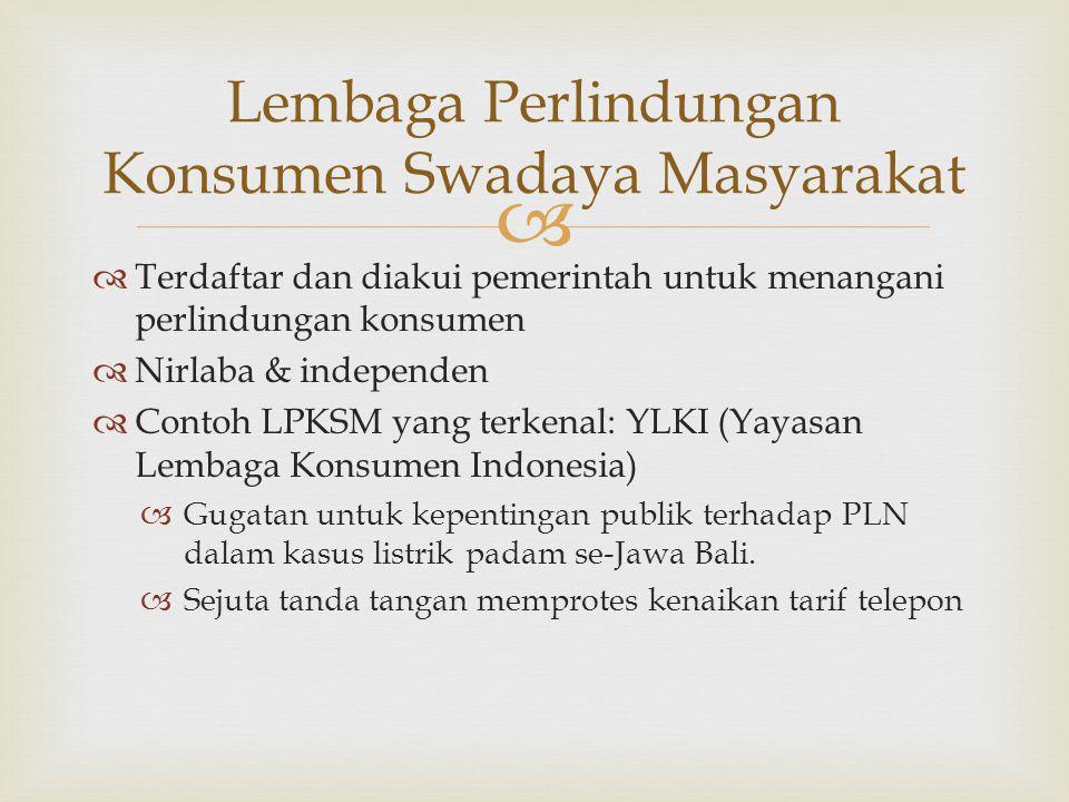 Lembaga Perlindungan Konsumen Swadaya Masyarakat
