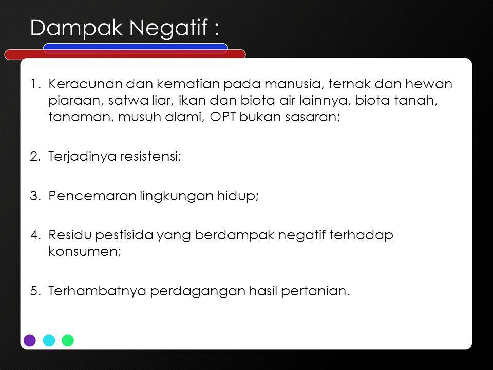 Dampak Negatif :