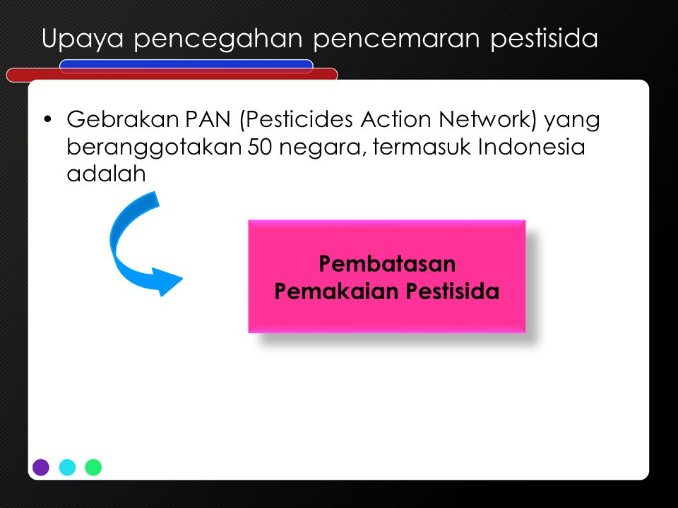 Upaya pencegahan pencemaran pestisida
