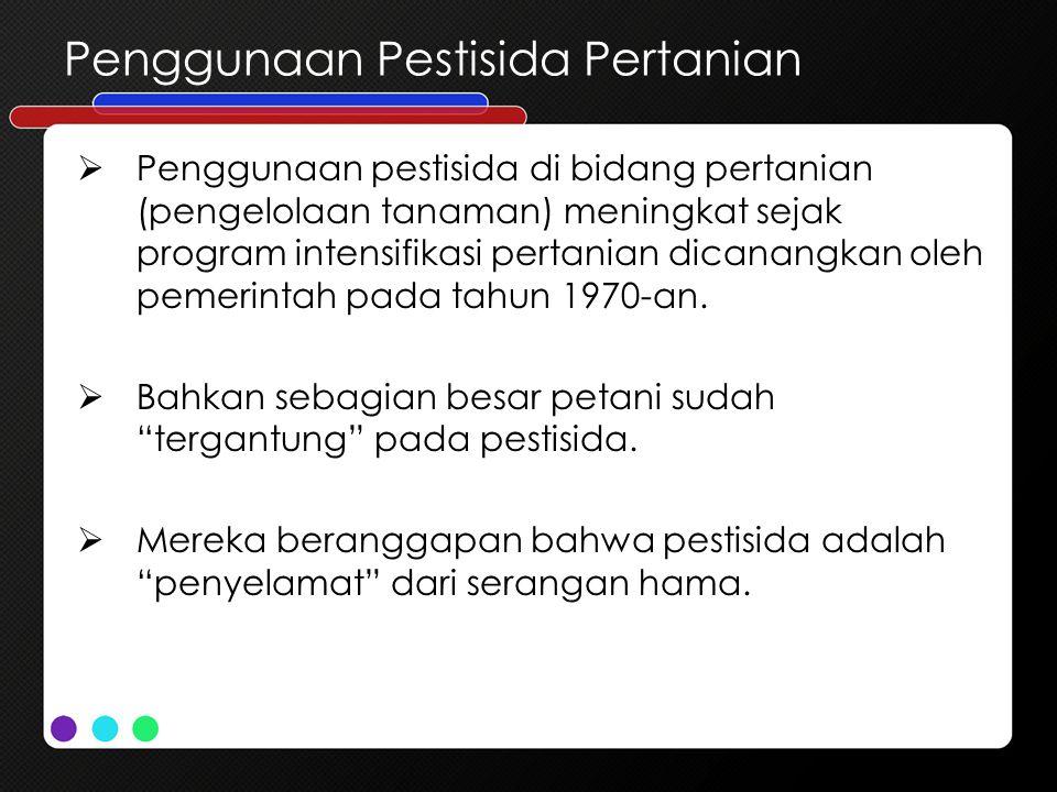 Penggunaan Pestisida Pertanian
