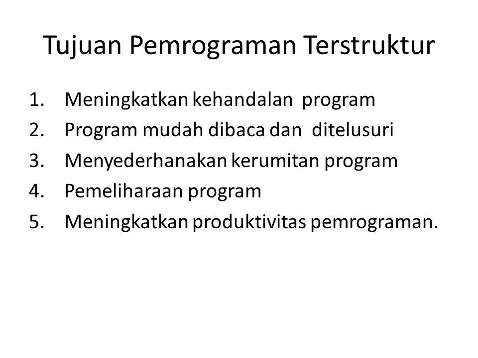 Tujuan Pemrograman Terstruktur