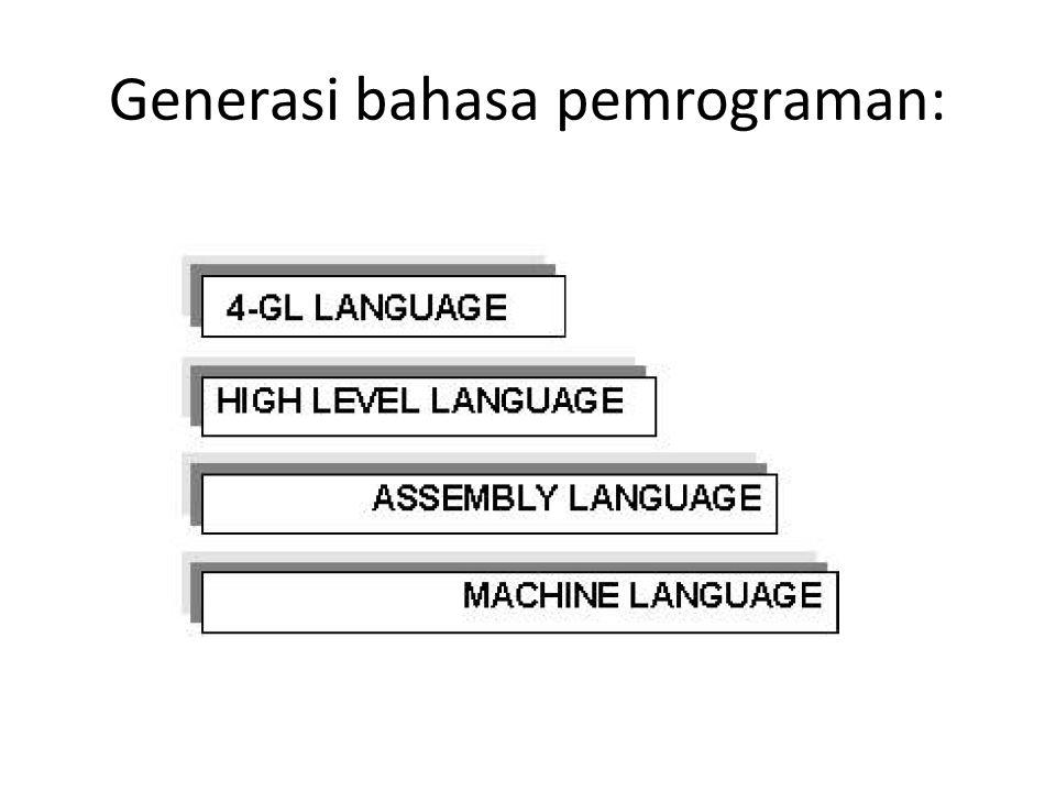 Generasi bahasa pemrograman: