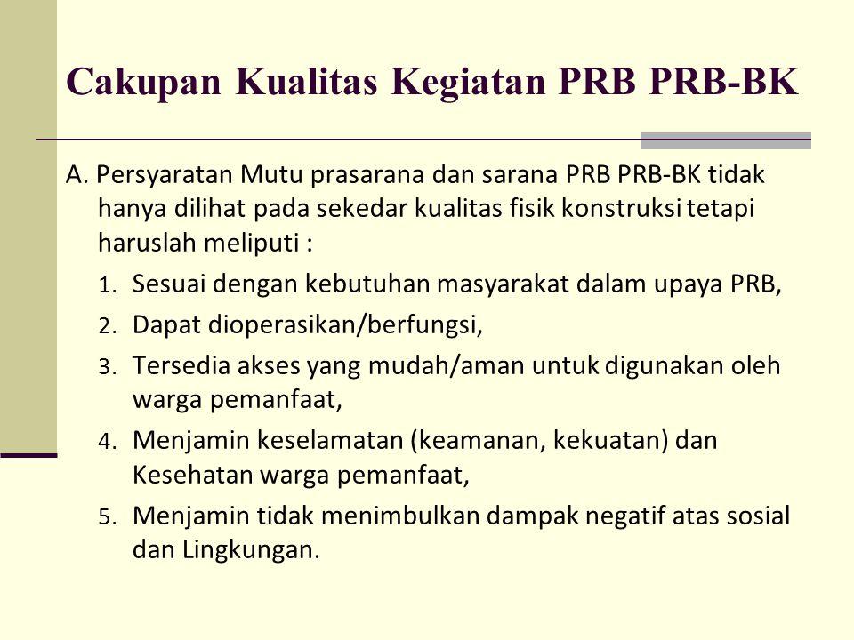 Cakupan Kualitas Kegiatan PRB PRB-BK