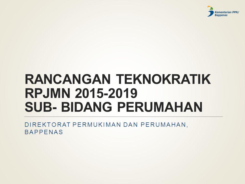 RANCANGAN TEKNOKRATIK RPJMN 2015-2019 SUB- BIDANG PERUMAHAN