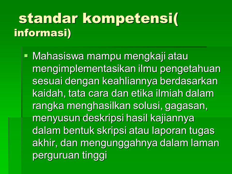 standar kompetensi( informasi)