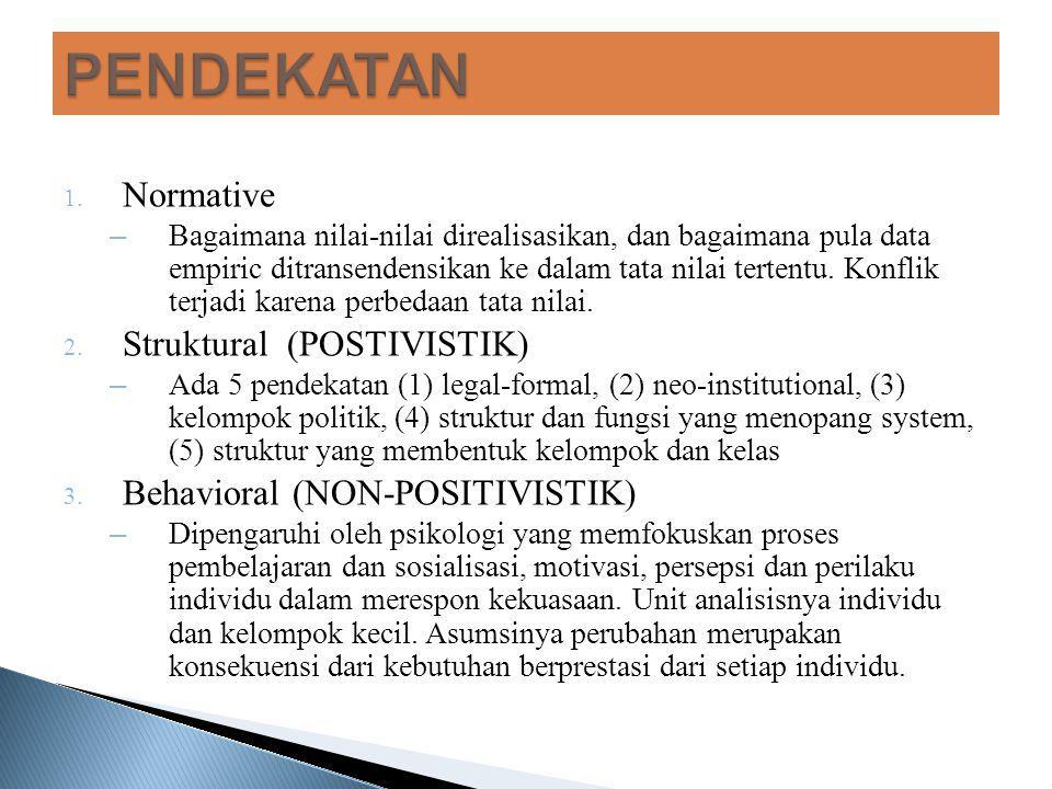 PENDEKATAN Normative Struktural (POSTIVISTIK)