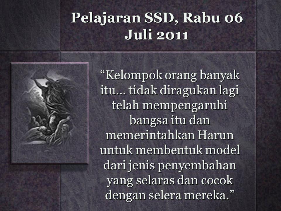 Pelajaran SSD, Rabu 06 Juli 2011